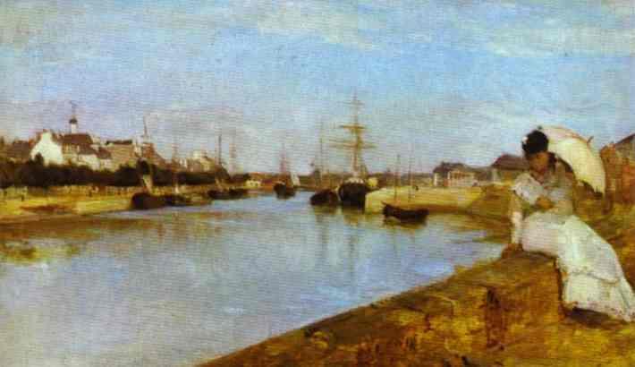 The Harbor At Lorient 1869   Berthe Morisot   Oil Painting