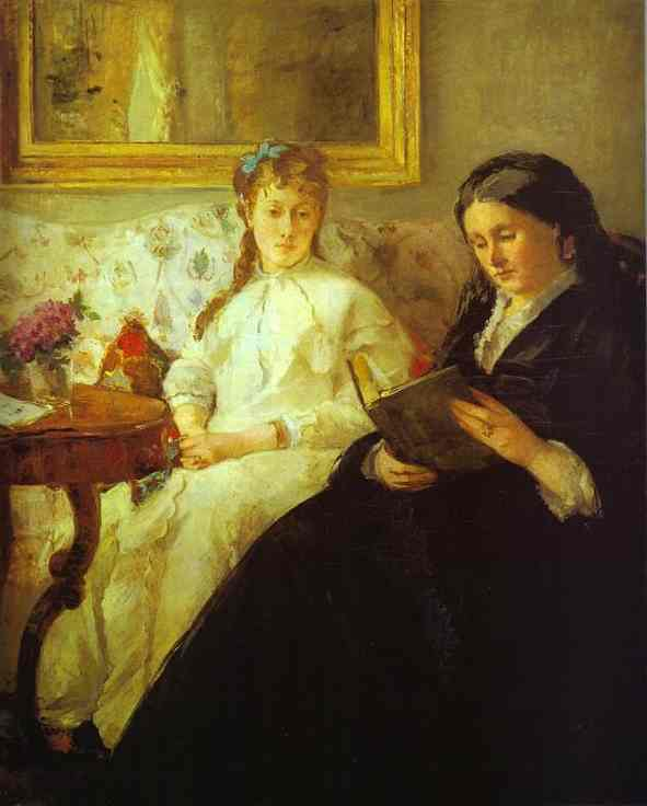 The Mother And Sister Of The Artist (Reading) 1869-70   Berthe Morisot   Oil Painting