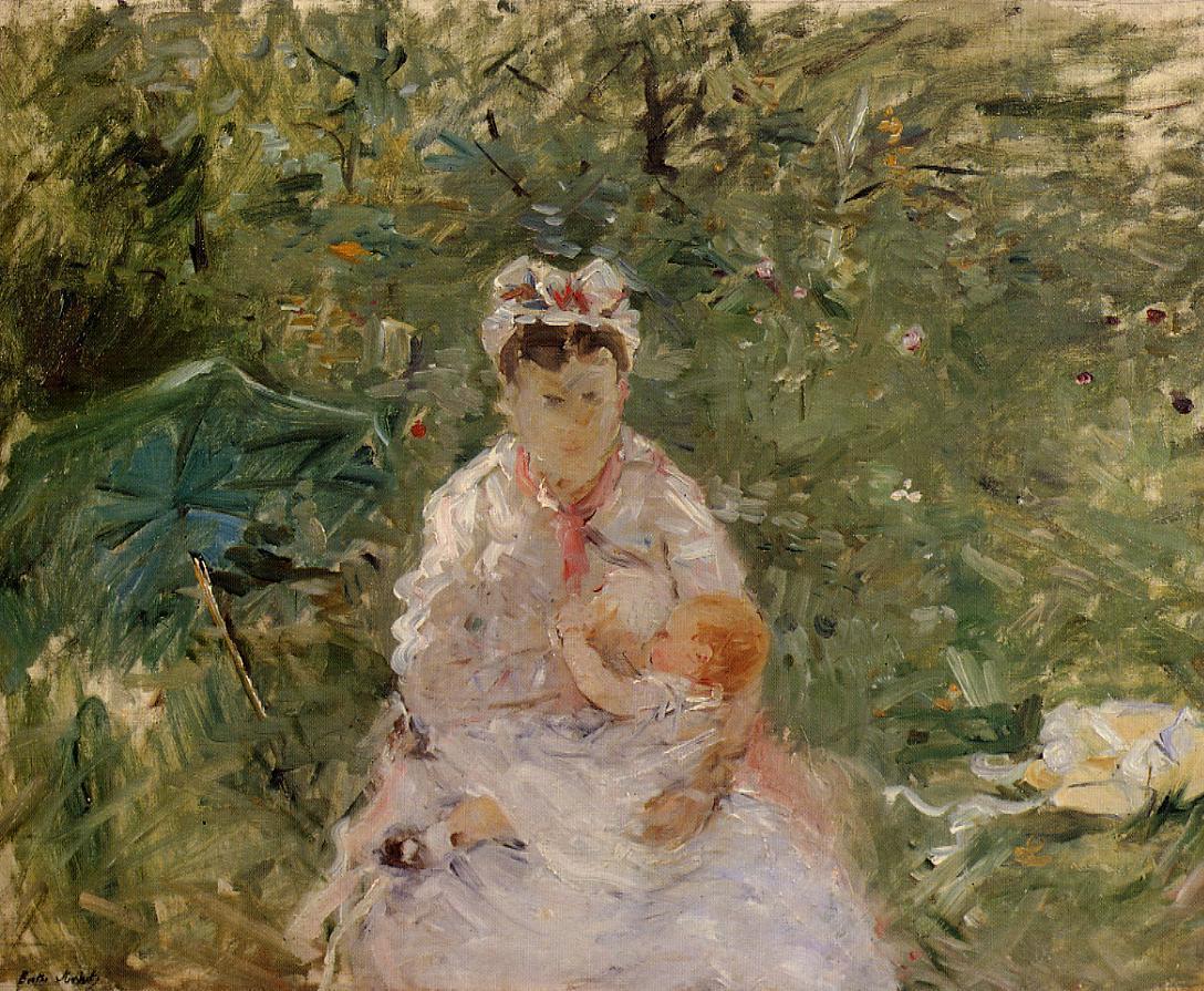 The Wet Nurse Angele Feeding Julie Manet 1880 Painting