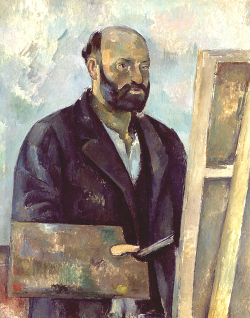Self Portrait with Palette | Paul Cezanne | Oil Painting