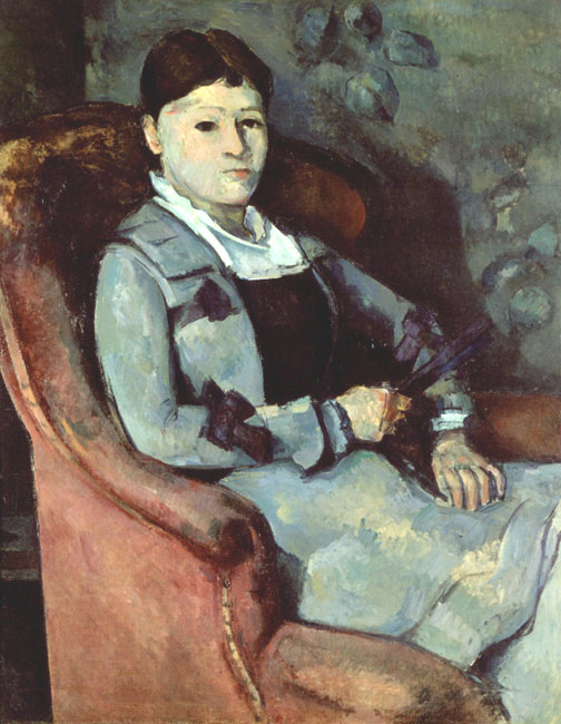Artist's Wife in an Armchair | Paul Cezanne | Oil Painting