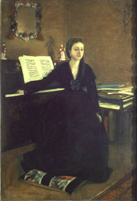 Madame Camus at the Piano | Edgar Degas | Oil Painting
