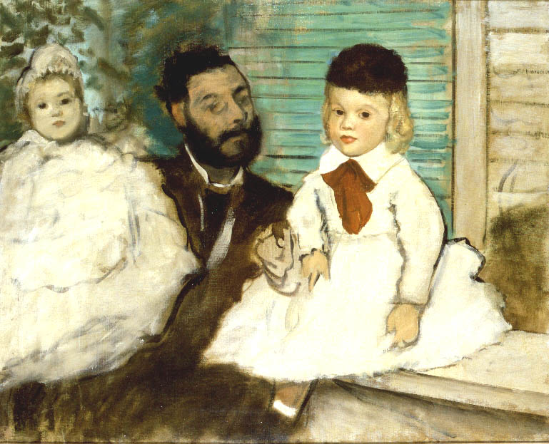 Count Lepic and His Daughters | Edgar Degas | Oil Painting