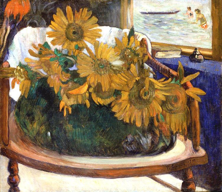Still Life with Sunflowers on an Armchair | Paul Gauguin | Oil Painting