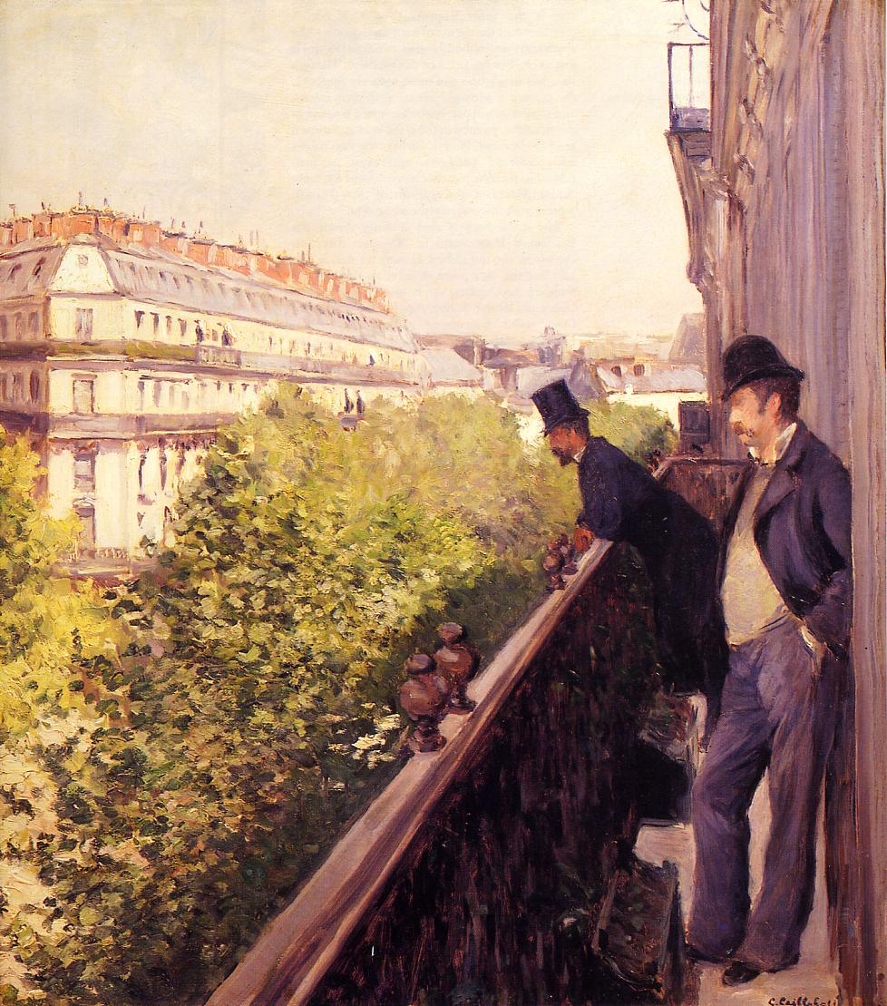 A Balcony  1880 | Gustave Caillebotte | Oil Painting