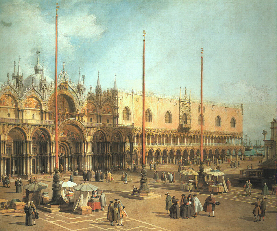 Piazza San Marco Looking Southeast 1735-40   Canaletto   Oil Painting