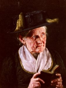 A Portrait Of A Woman With A Book Of Prayer | Carl Kronberger | Oil Painting