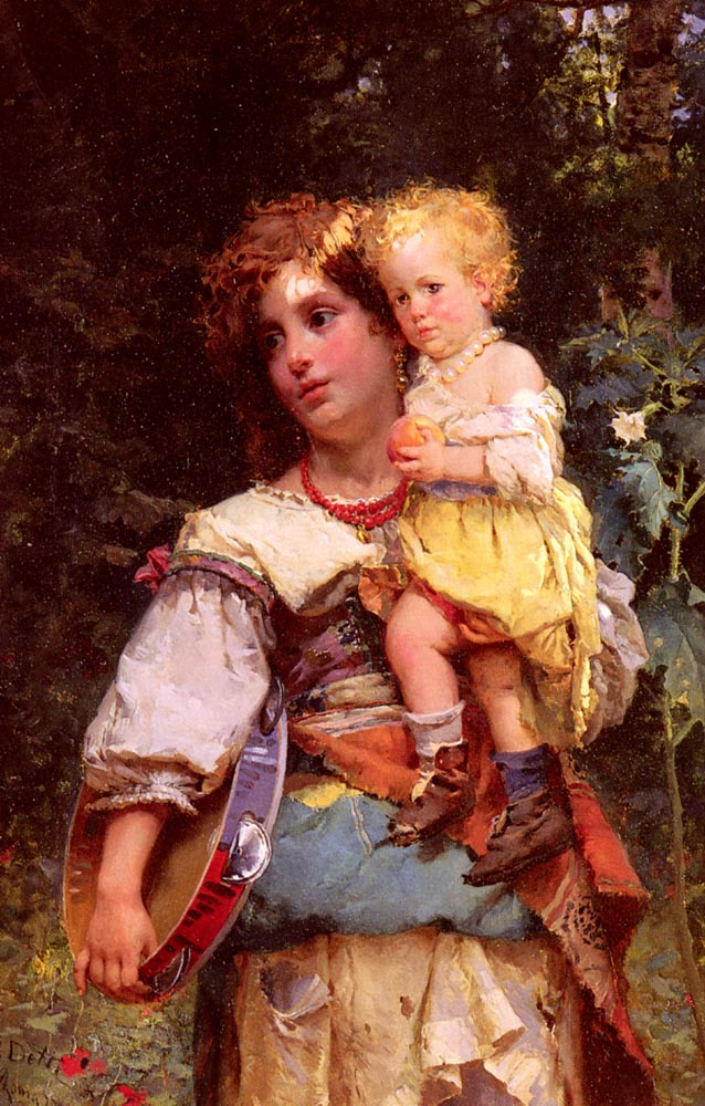 Gypsy Woman Painting Gypsy Woman And Child ...
