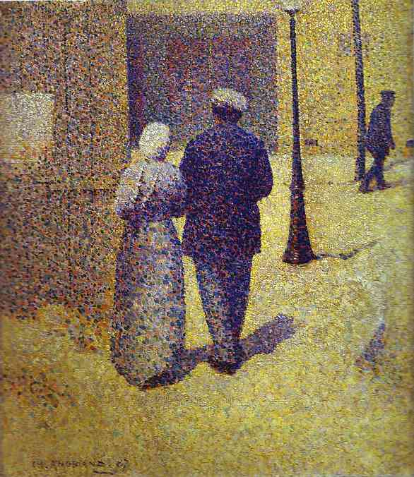Couple In The Street 1887 | Charles Angrand | Oil Painting