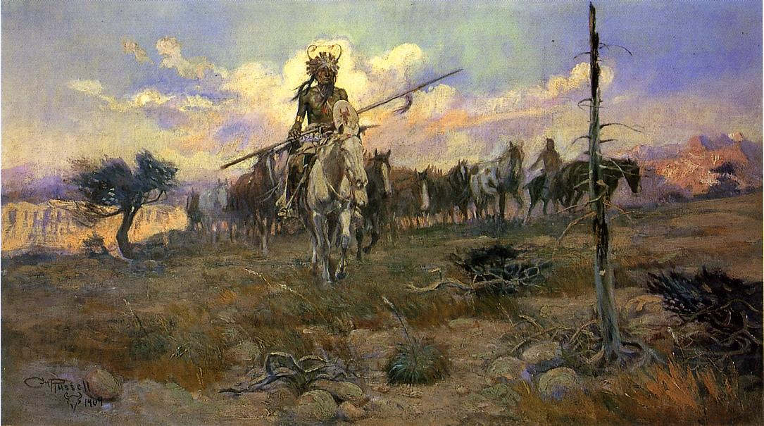 Bringing Home the Spoils 1909 | Charles Marion Russell | Oil Painting
