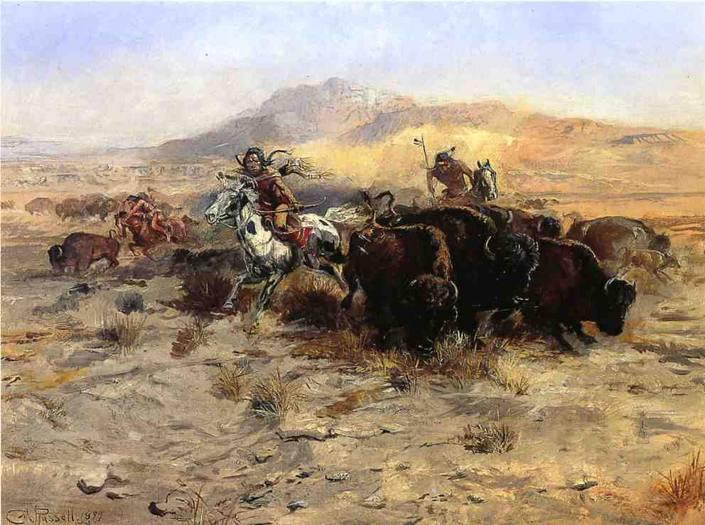 Buffalo Hunt 1899 | Charles Marion Russell | Oil Painting