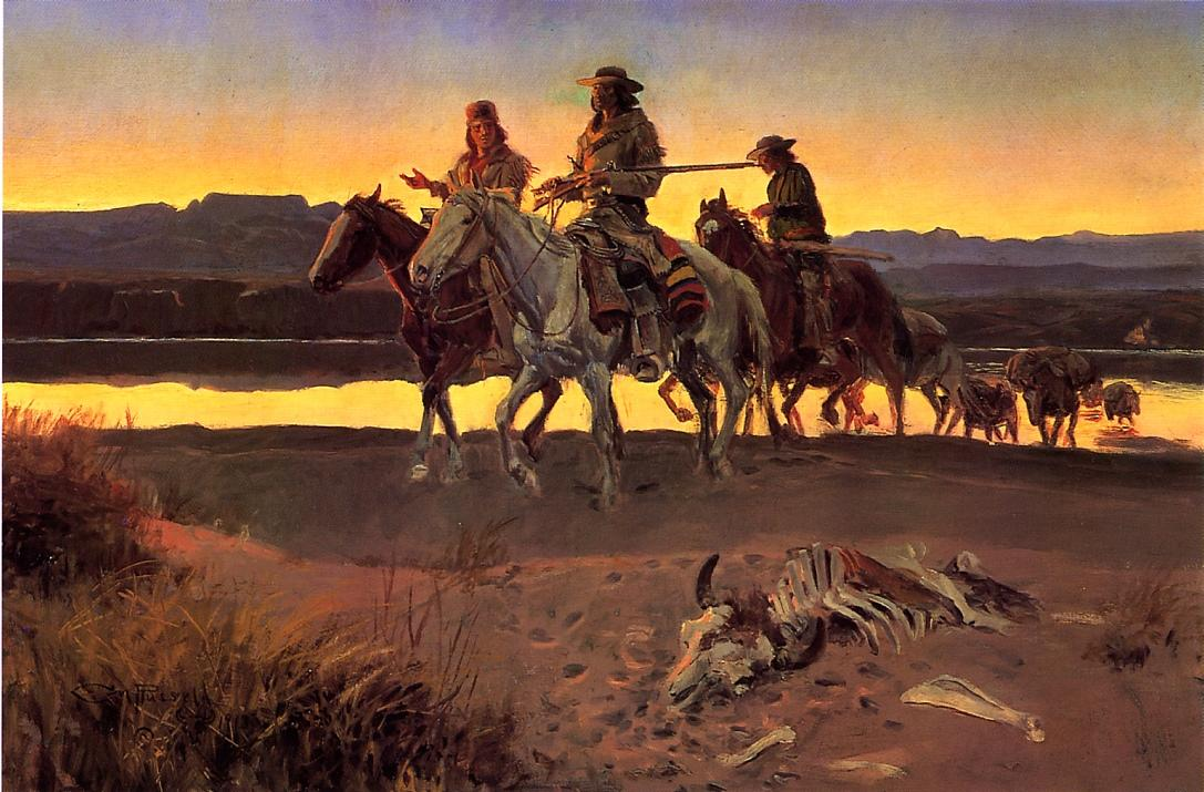 Carson's Men 1913 | Charles Marion Russell | Oil Painting