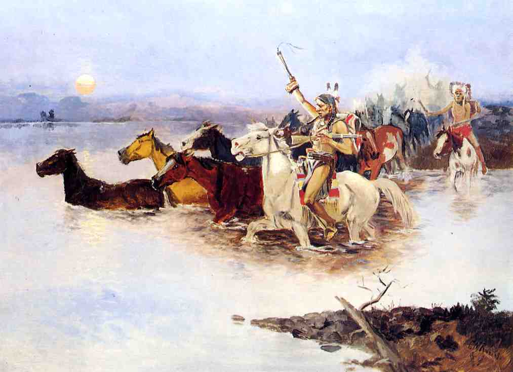 Crossing the Range 1890 | Charles Marion Russell | Oil Painting