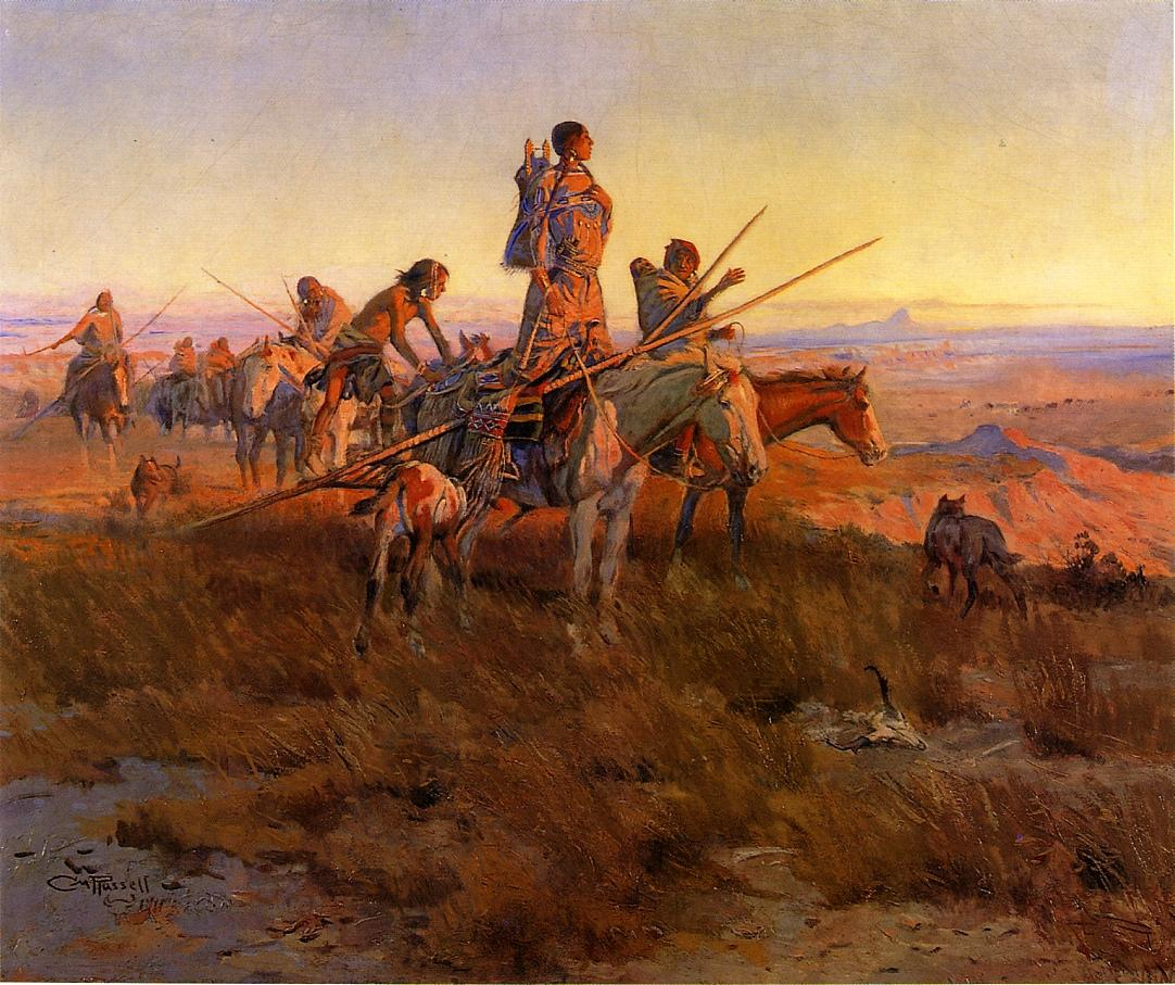 In the Wake of the Buffalo Hunters 1911 | Charles Marion Russell | Oil Painting