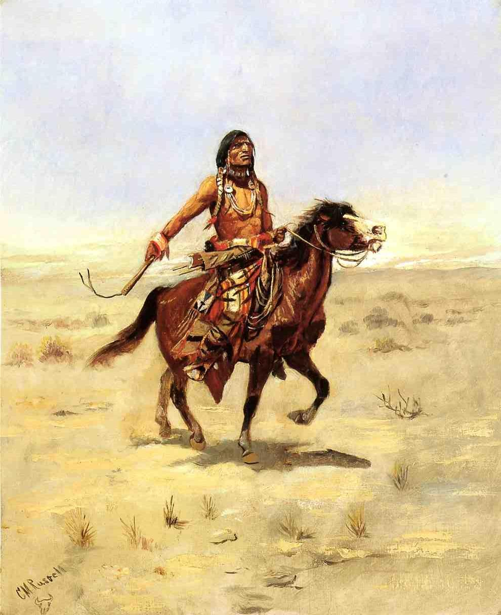 Indian Rider | Charles Marion Russell | Oil Painting
