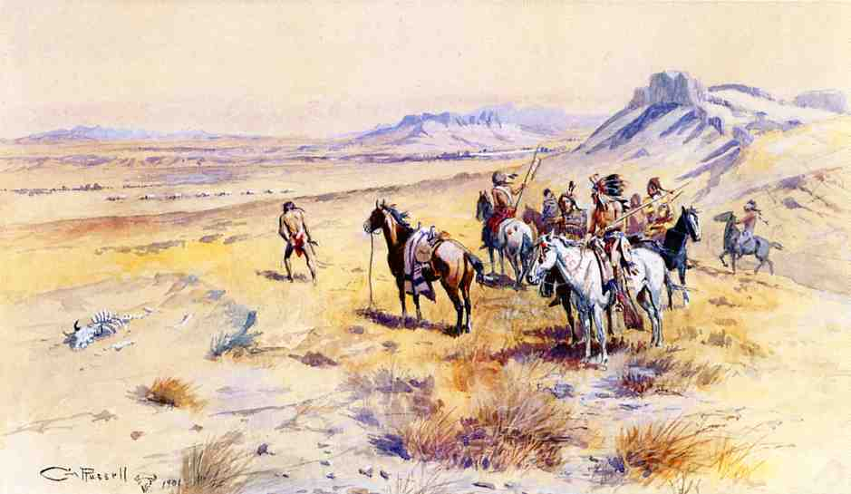 Indian War Party 1901 | Charles Marion Russell | Oil Painting