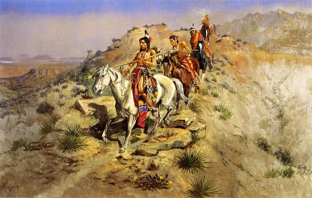 Outnumbered 1898 | Charles Marion Russell | Oil Painting