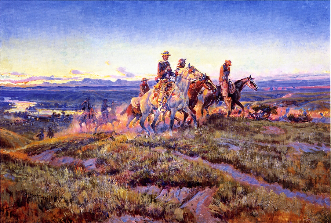 Men of the Open Range 1923 | Charles Marion Russell | Oil Painting