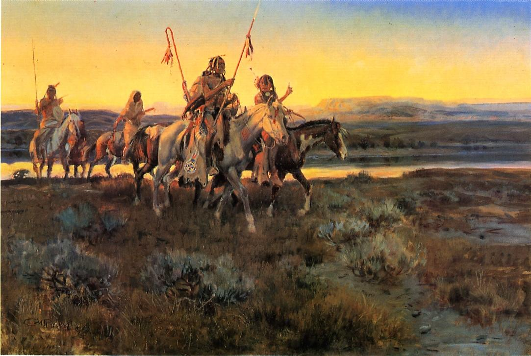 Piegans 1918 | Charles Marion Russell | Oil Painting