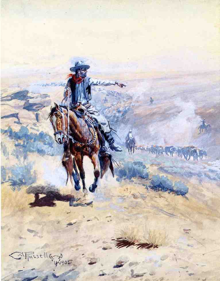 Pointing Out the Trail 1905 | Charles Marion Russell | Oil Painting