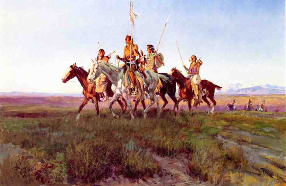 Return of the War Party 1914 | Charles Marion Russell | Oil Painting