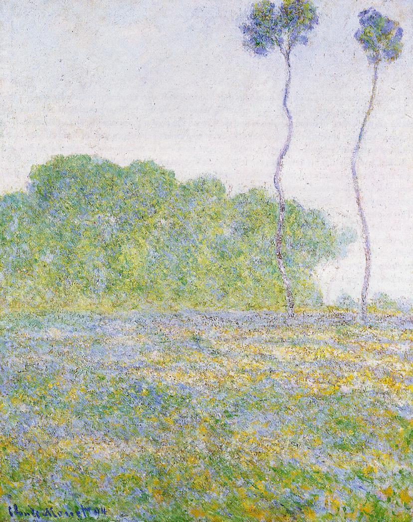 A Meadow at Giverny 1894 | Claude Monet | Oil Painting