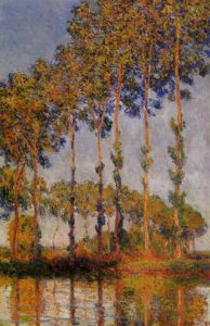 A Row of Poplars 1891 | Claude Monet | Oil Painting