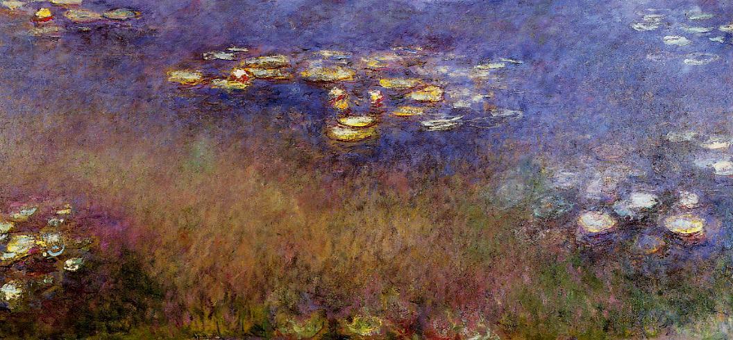 Agapanthus (center panel) 1920-1926 | Claude Monet | Oil Painting