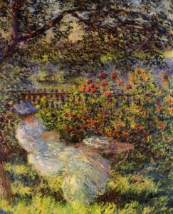 Alice Hoschede in the Garden 1881 | Claude Monet | Oil Painting