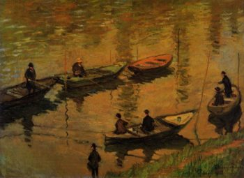 Anglers on the Seine at Poissy 1882 | Claude Monet | Oil Painting