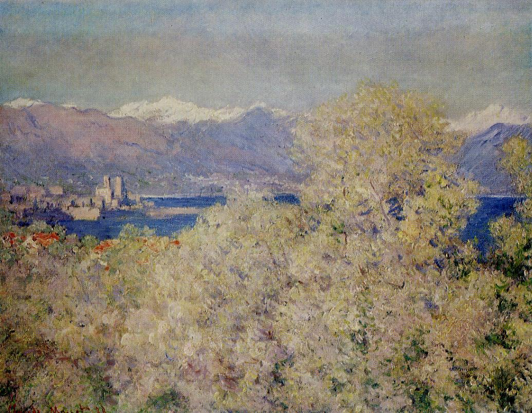 Antibes - View of the Salis Gardens 1888 | Claude Monet | Oil Painting