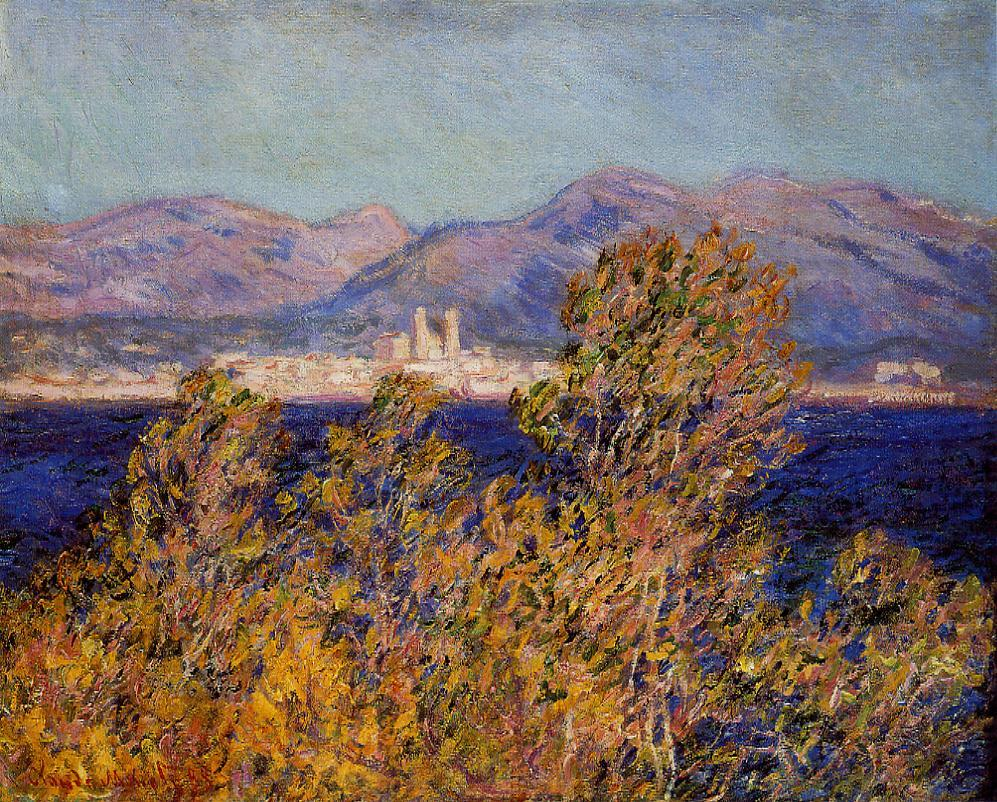 Antibes Seen from the Cape Mistral Wind 1888 | Claude Monet | Oil Painting
