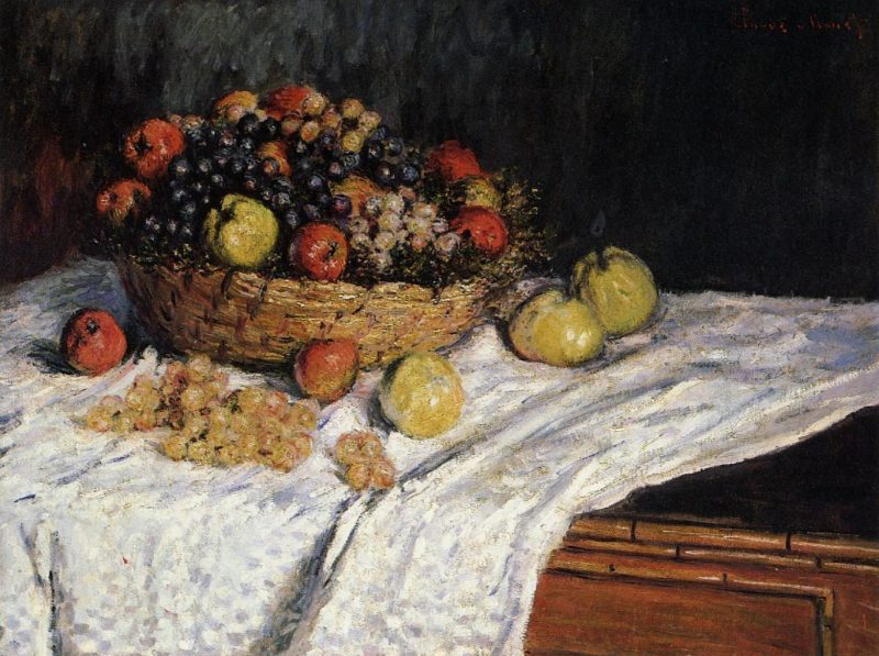 Fruit Basket with Apples and Grapes 1879 | Claude Monet | Oil Painting