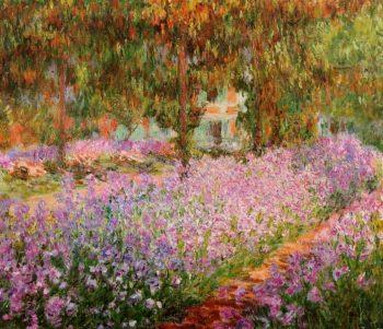 Irises in Monets Garden 1900   Claude Monet   Oil Painting