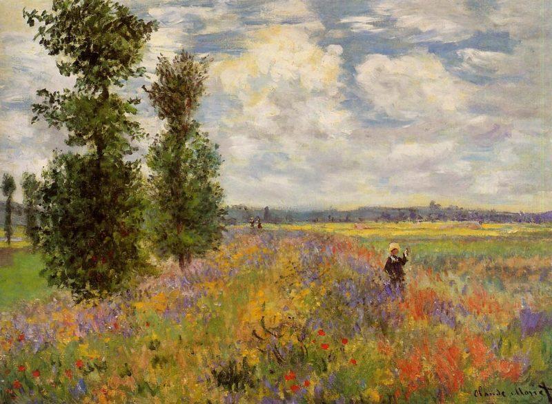 Poppy Field Argenteuil 1875 | Claude Monet | Oil Painting