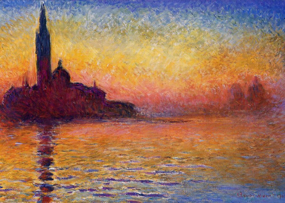 San Giorgio Maggiore by Twilight 1908 | Claude Monet | Oil Painting