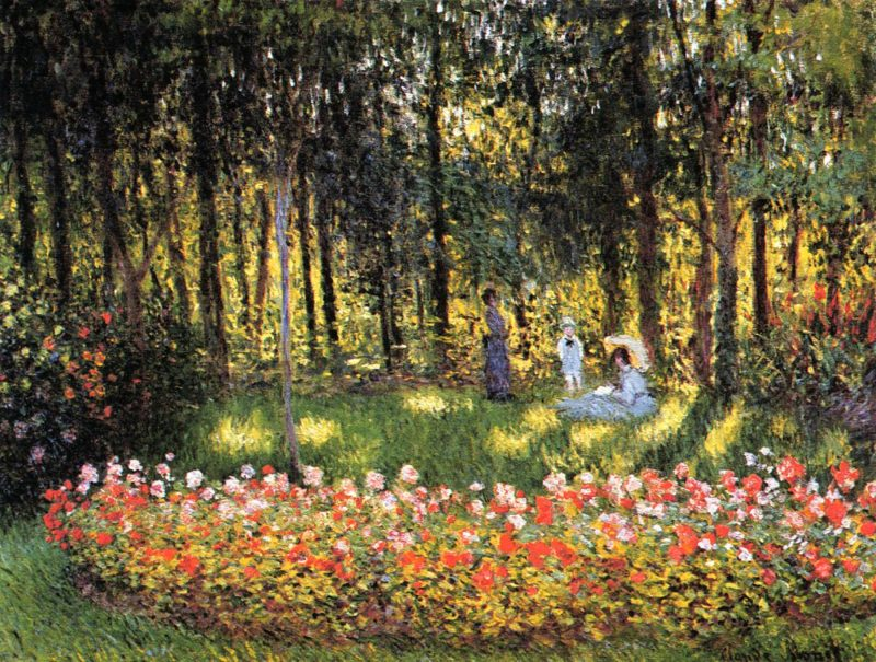 The Artists Family in the Garden 1875 | Claude Monet | Oil Painting