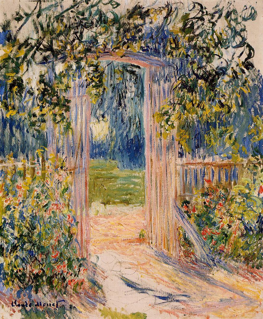 The Garden Gate 1881 | Claude Monet | Oil Painting