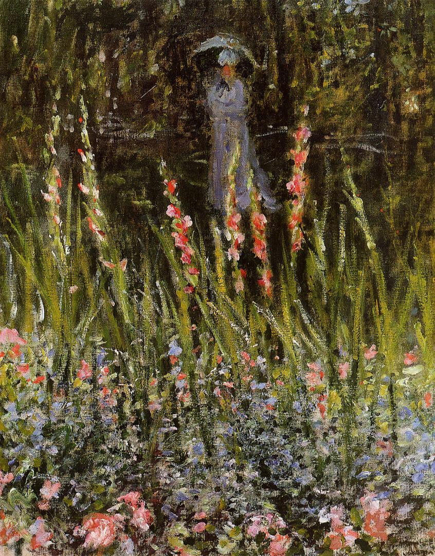 The Garden Gladioli 1876 Painting | Claude Oscar Monet Oil Paintings
