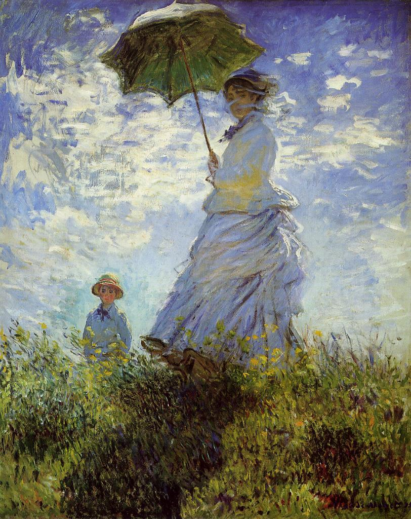 The Walk Woman with a Parasol 1875 | Claude Monet | Oil Painting