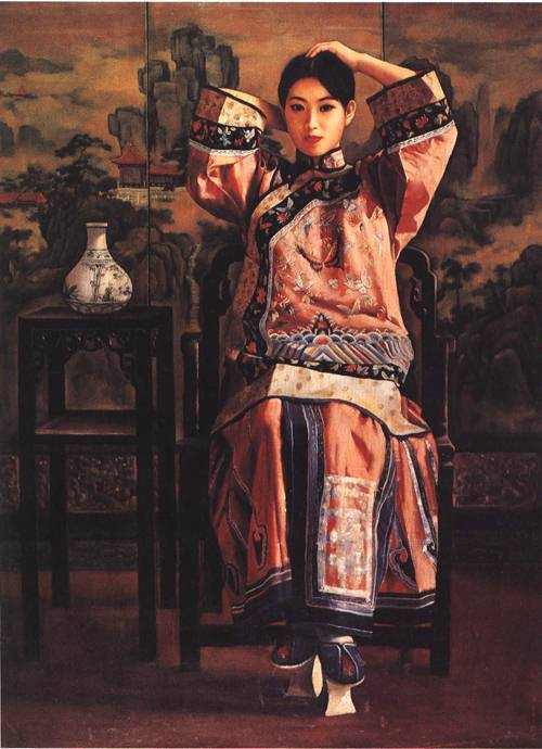 A Lady from Qing Dynasty | Li Feng Di | Oil Painting