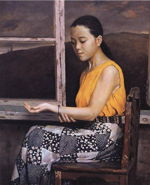 Girl by the Window | Xin Liu | Oil Painting