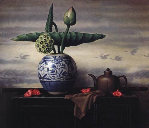 Lotus | Dong Ming Lu | Oil Painting