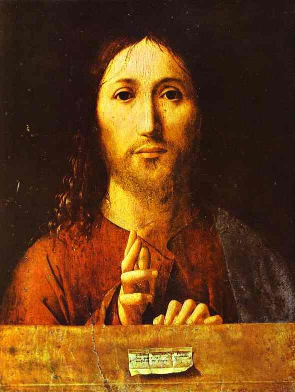 Christ Blessing 1465 | Da Messina Antonello | Oil Painting