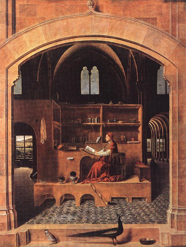 St Jerome In His Study 1460 | Da Messina Antonello | Oil Painting