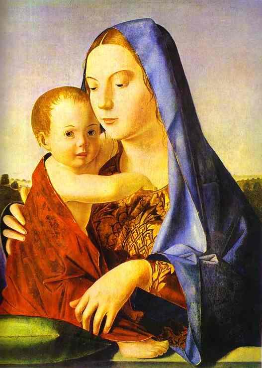 Madonna And Child   Da Messina Antonello   Oil Painting