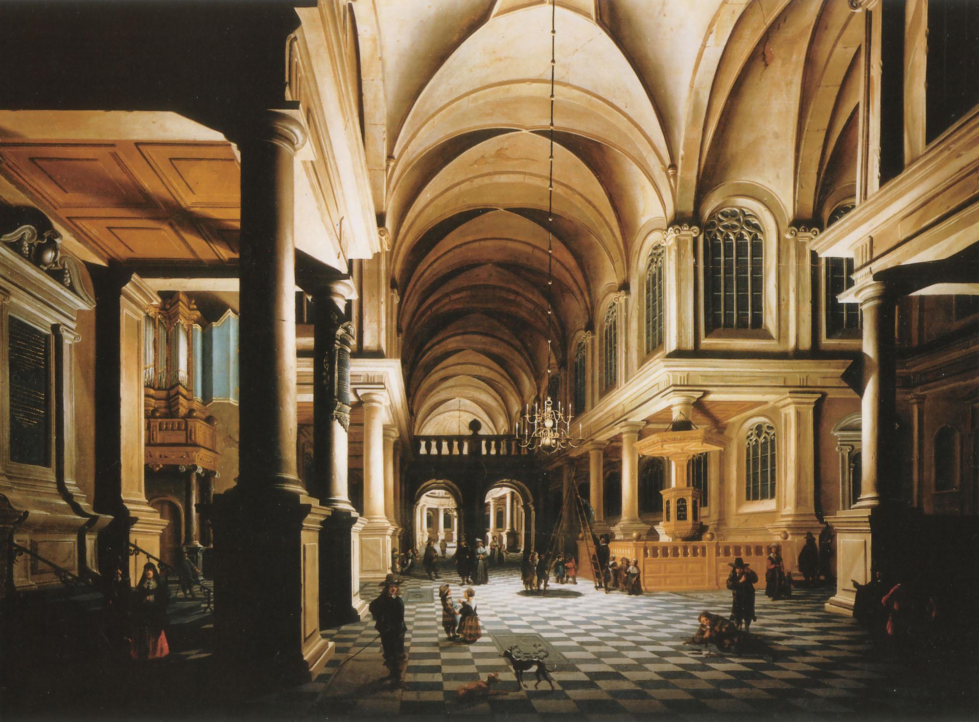 A church interior painting daniel de blieck oil paintings