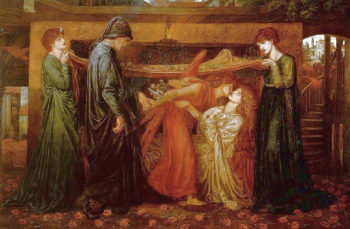 Dante's Dream at the Time of the Death of Beatrice 1871 | Dante Gabriel Rossetti | Oil Painting
