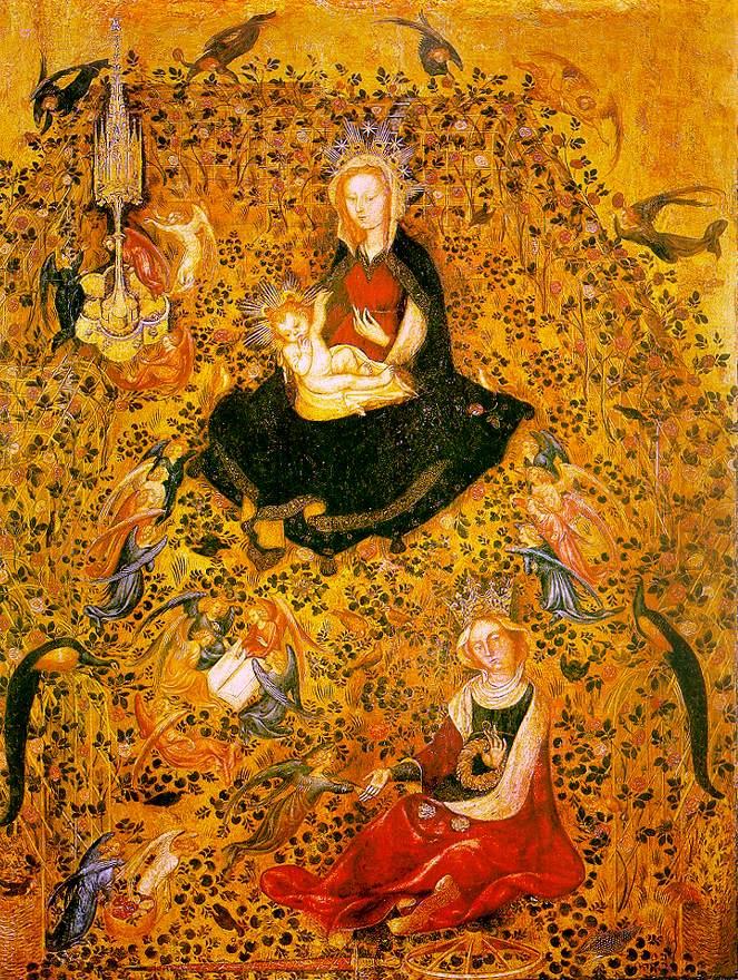 Madonna in the Rosary 1410 | Da Zevio Stefano | Oil Painting