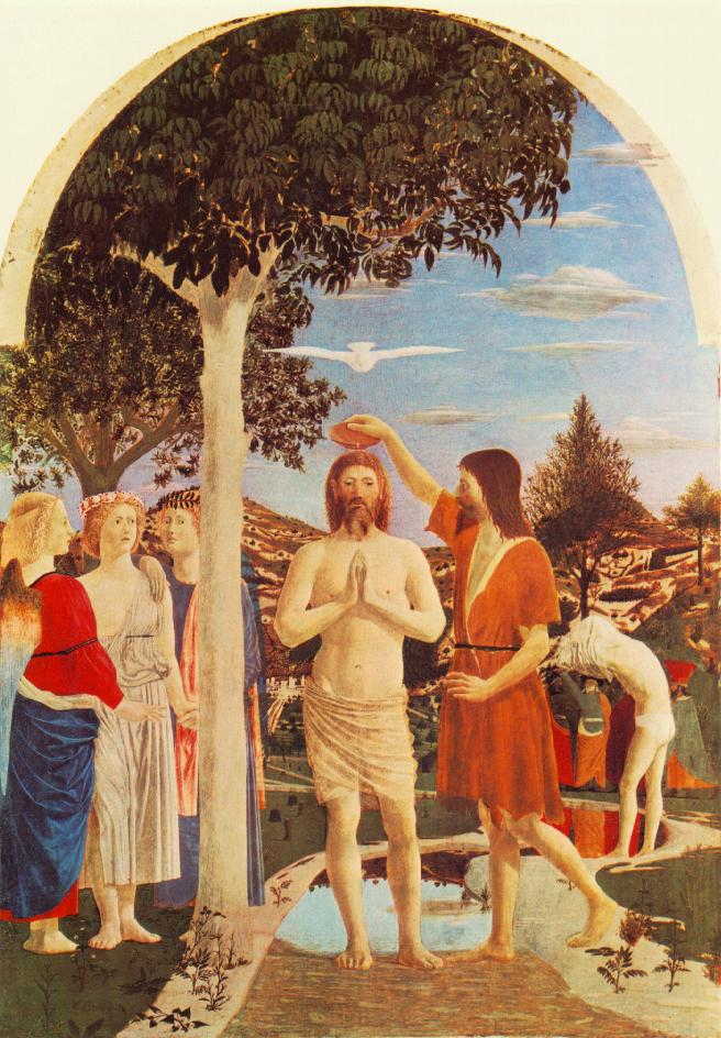 Baptism Of Christ 1448-50 | Della Francesca Piero | Oil Painting